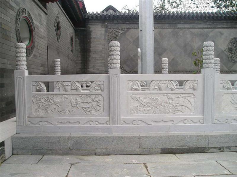 草白玉石雕欄板