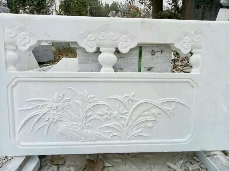 石雕欄板漢白玉