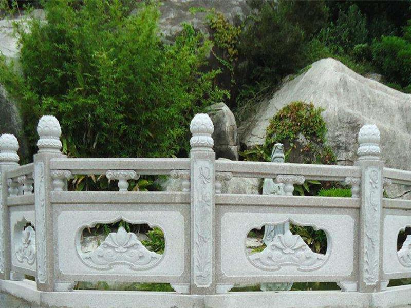 漢白玉石雕欄板