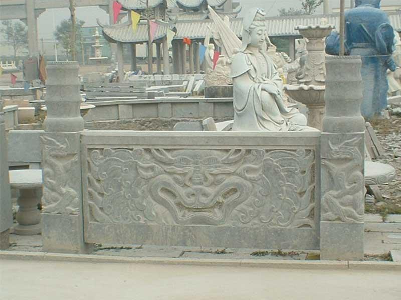 石雕青石欄板