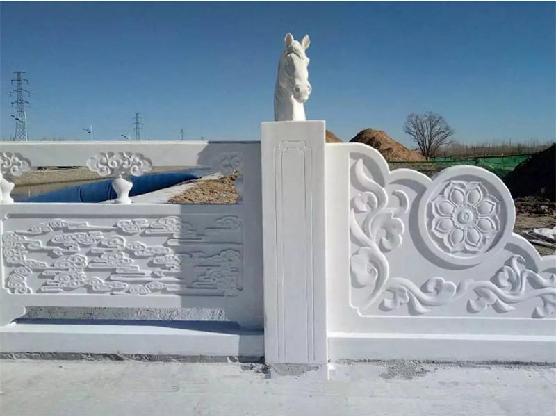 雕花石欄板
