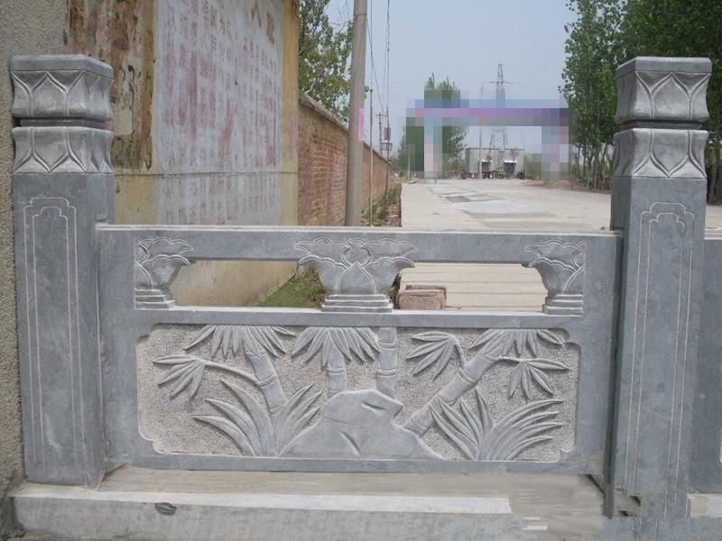 石雕蘭花欄板